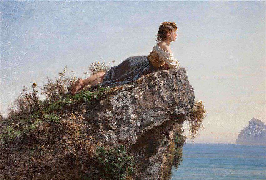 Palizzi, La ragazza sulla roccia a Sorrento, 1871