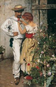 TITO Ettore, La mia rossa, 1888, Collezione Balzan, deposito Badia Polesine