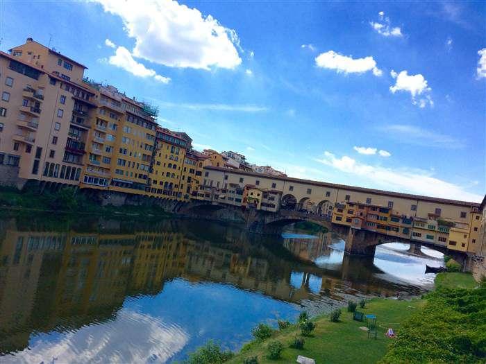 река с мостом тоскана