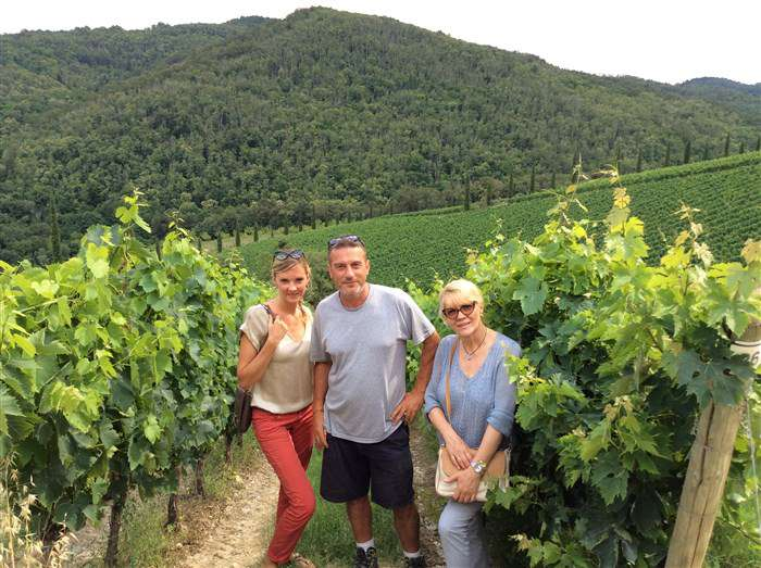мы среди виноградников кьянти